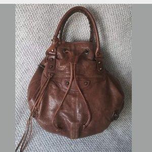 Balenciaga Pompon Large Brown Bag